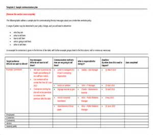 communication plan template communication plan exle communication plan exle