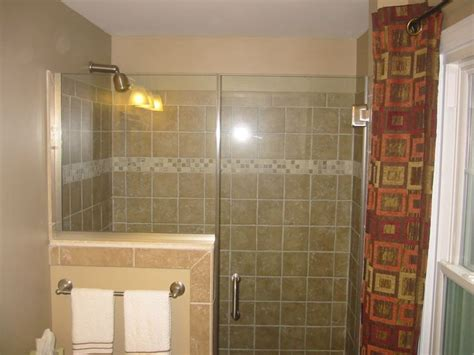 Half Glass Shower Doors Shower Glass Door Half Wall Glass Tile Bathroom Renovations Doors Glasses And