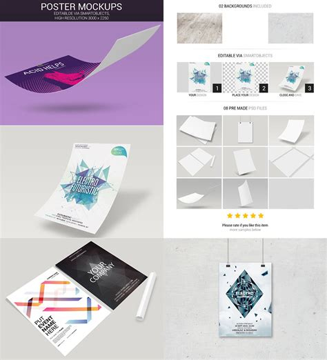 design mockup bundle 15 photoshop poster mockup templates for your creative