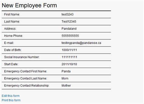 new hire form template new hire packet forms images