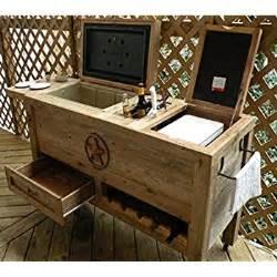 Amazon com outdoor patio cooler bar wooden rustic