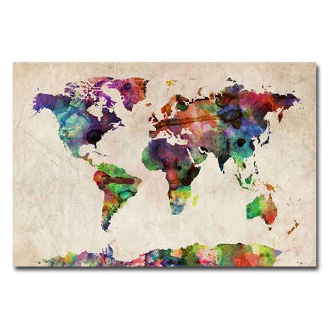 ideas  world map canvas  pinterest world