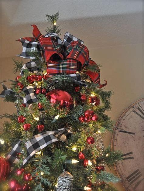 christmas tree decorating ideas with plaid ribbon the world s catalog of ideas