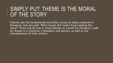 themes of the lottery story intro to literature theme presentation