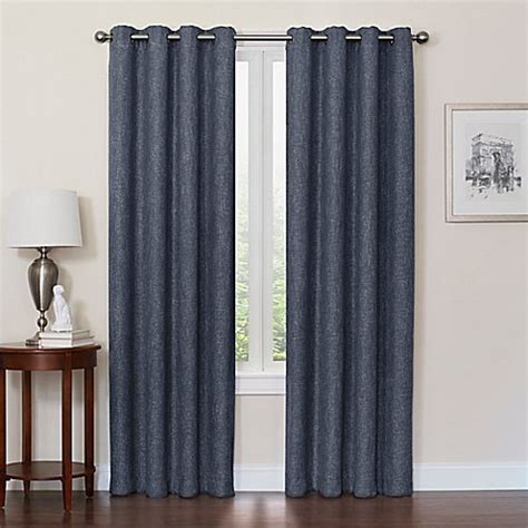 54 inch blackout curtains buy quinn 54 inch grommet top 100 blackout window curtain