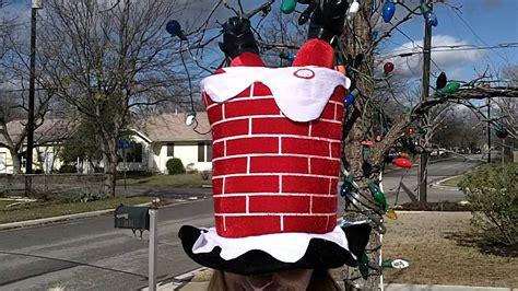 Chimney Hat With Santa - santa in a chimney hat