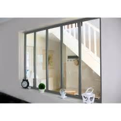 Awesome Panneau En Bois Pour Jardin #13: Verriere-d-interieur-atelier-en-kit-aluminium-gris-5-vitrages-h-1-08-x-l-1-53-m.jpg