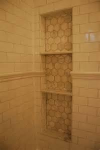 bathroom niche shelves hex tile shower shelves for the home