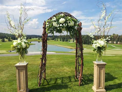 Garden Wedding Altar Ideas Theme Of Outside Wedding Decorations The Home Decor Ideas