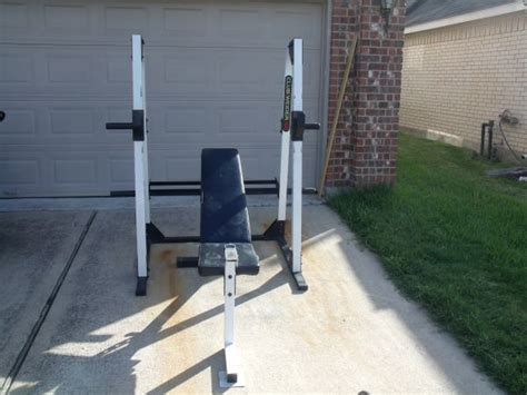 club weider 350 weight bench club weider squat rack espotted