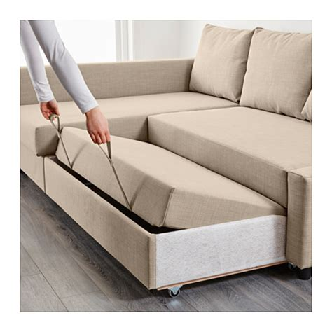 Ikea Corner Sofa Bed Friheten Corner Sofa Bed With Storage Skiftebo Beige Ikea