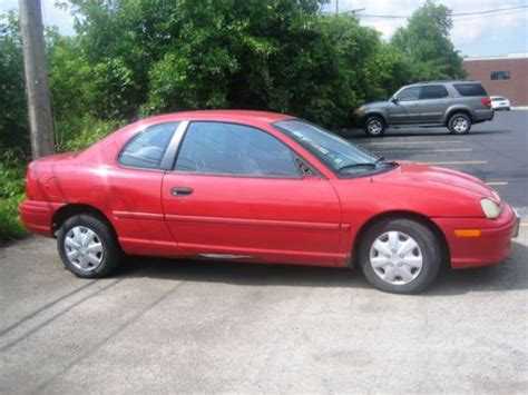 car owners manuals for sale 1998 plymouth neon instrument cluster find used 1998 dodge neon sport coupe 2 door 2 0l red manual shift 5 speeds in mount prospect