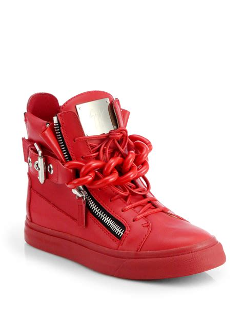 giuseppe zanotti sneakers giuseppe zanotti tonal chain sneakers in lyst