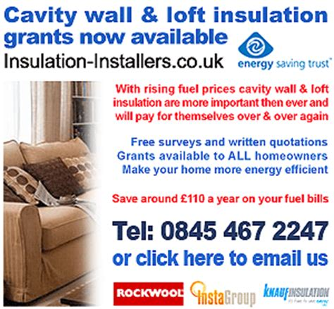 types of cavity wall insulation
