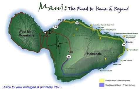printable road to hana map seven sacred pools nightborn travel