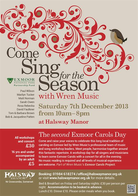 Christmas Carol Flyer past times archives exmoor magazine