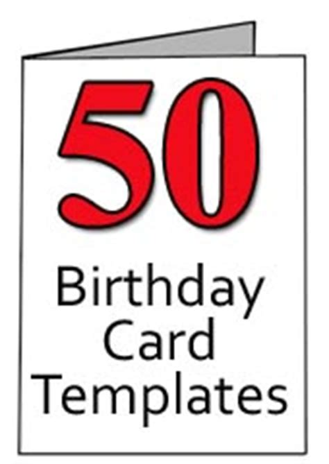 free templates for awesome 50th birthday cards free 50th birthday card templates for word