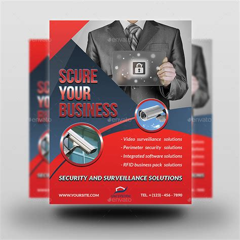 alarm security code card template security system flyer template by owpictures graphicriver