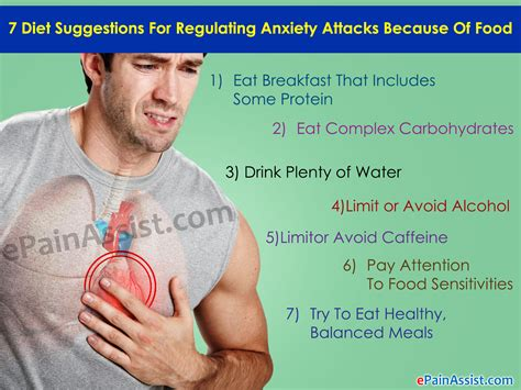 diet suggestions  regulating anxiety attacks