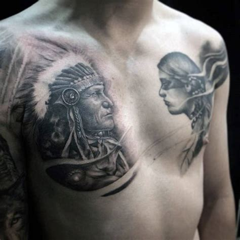 chest tattoo native american 100 native american tattoos for men indian design ideas