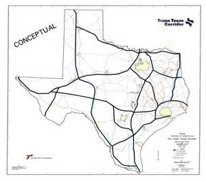 trans texas corridor map interstate 27