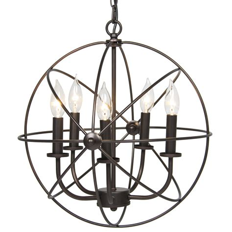 Chandelier Light Fixtures Industrial Vintage Lighting Ceiling Chandelier 5 Lights Metal Hanging Fixture Ebay