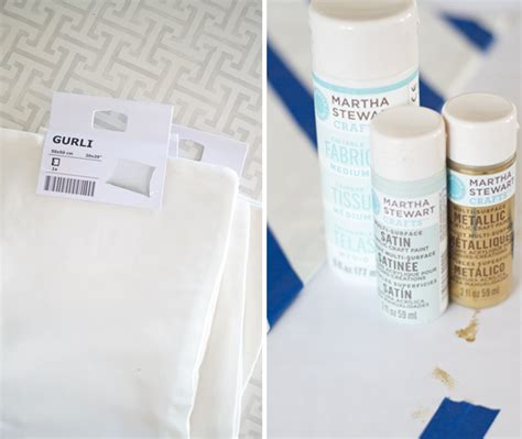 latex tutorial abstract stenciled pillows painting on fabric with acrylic paint