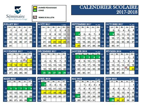 calendrier scolaire quebec calendrier scolaire printable 2018 calendar free