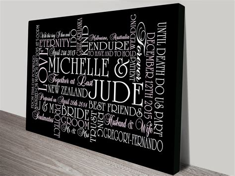 personalised word template personalised word template wordart word personalised canvas word and wedding wall gift ideas