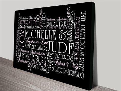Wedding Gift Ideas Australia by Personalised Artwork Collage Of Words Prints Australia