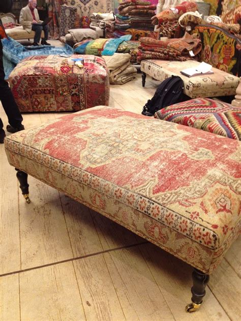 Rug Covered Ottoman Rug Covered Ottomans To Die For Home Sweet Home