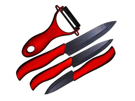 Set Of 4 Knives Peeler 4 knife and peeler set stacksocial