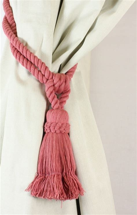 how to tie curtain tassels pair cotton tassel rope curtain tiebacks tie backs 12