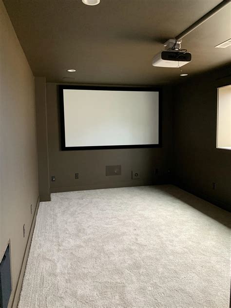 home theater  complete screen projector