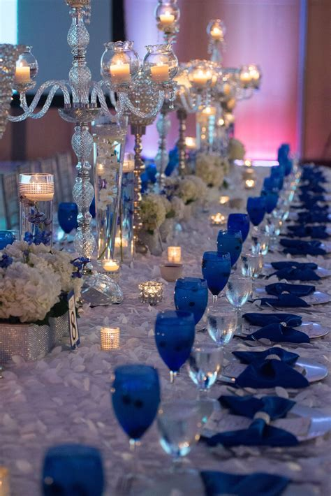our royal blue wedding family styled seating reception