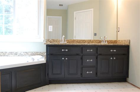 paint bathroom cabinets black my husband hates my new knobs 187 the bearded iris