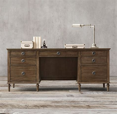 office desk restoration hardware maison 76 quot desk