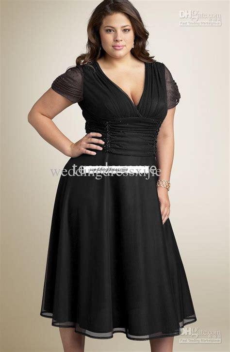 Black plus size prom dresses