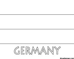 coloring page for german flag germany flag coloring page