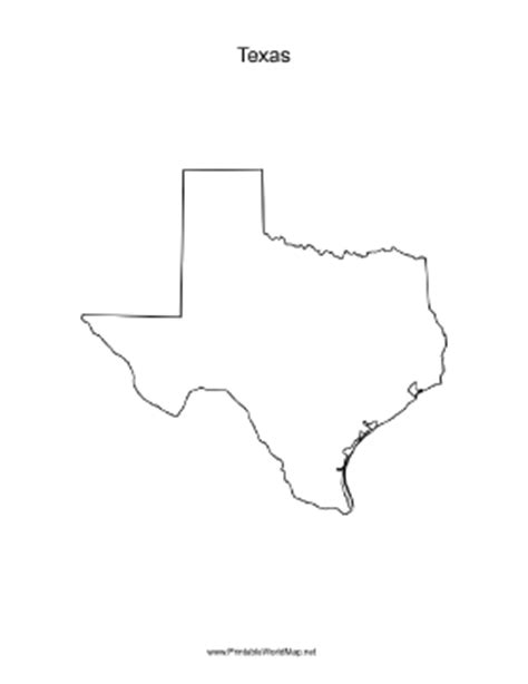blank map of texas texas blank map