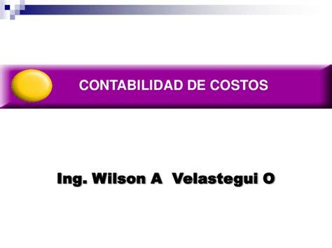 contabilidad de costos i contabilidad de costos presentaciones