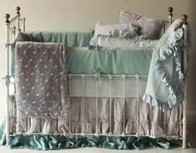 two bed skirts wrought iron crib and babies
