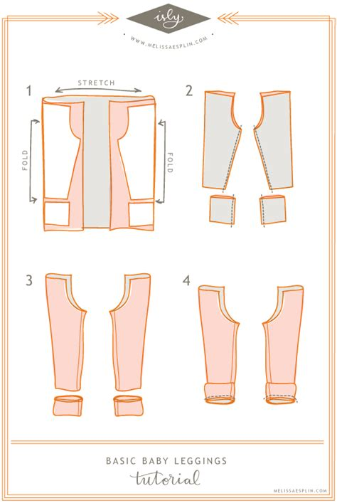 baby leggings pattern to sew isly tutorials basic baby leggings illustration step by