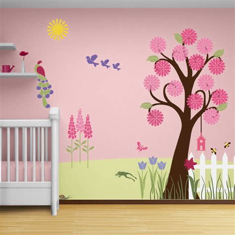 nursery wall mural asian paint wall design to improve your home decoration seeur