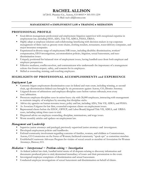 Resume Sles Paralegal Description Clerk Resume