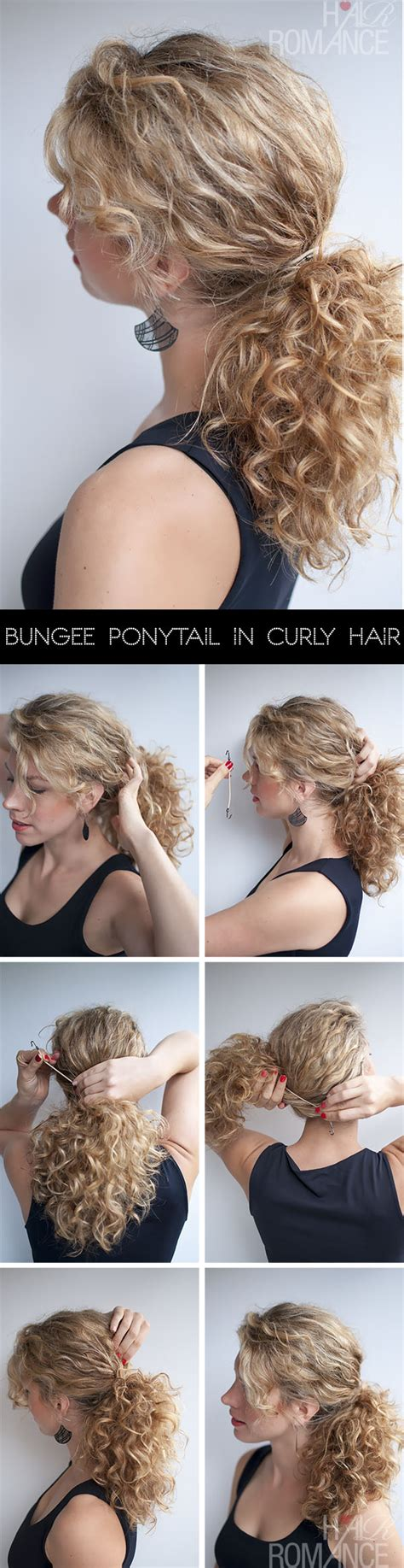 curly hairstyle tutorial the curly ponytail hair romance