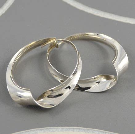 silver swirl hoops earrings silver jewellery