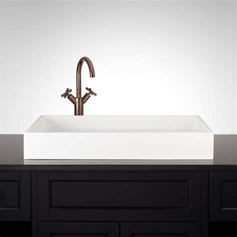 small rectangular vessel sink rectangular sinks bathroom vessel creative bathroom