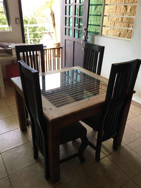 comedor rustico de madera   sillas  en