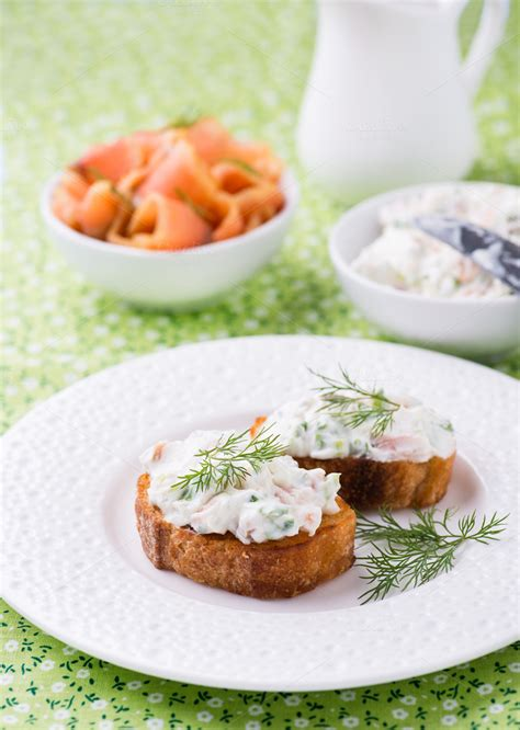 canape spread canape with cheese spread food drink photos on